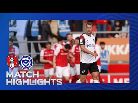 Rotherham Portsmouth Goals And Highlights