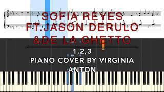 1,2,3 Sofia Reyes ft. Jason Derulo & De La Ghetto Midi Sheet
