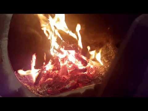 Печь длительного горения из стальной трубы часть 1