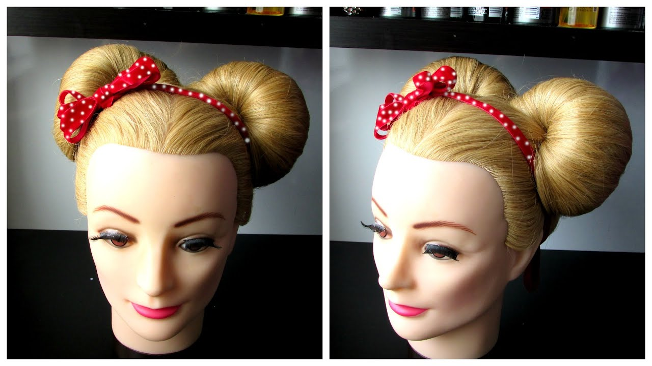 easy minnie mouse hairstyle tutorial for halloween, casual look