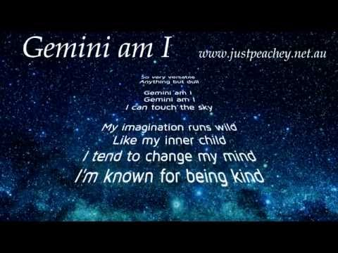 Gemini Star Sign (character traits song) by Just Peachey