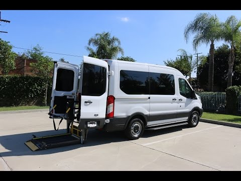 FORD TRANSIT WHEELCHAIR ACCESS VAN WITH REAR LIFT BY SUNSET VANS