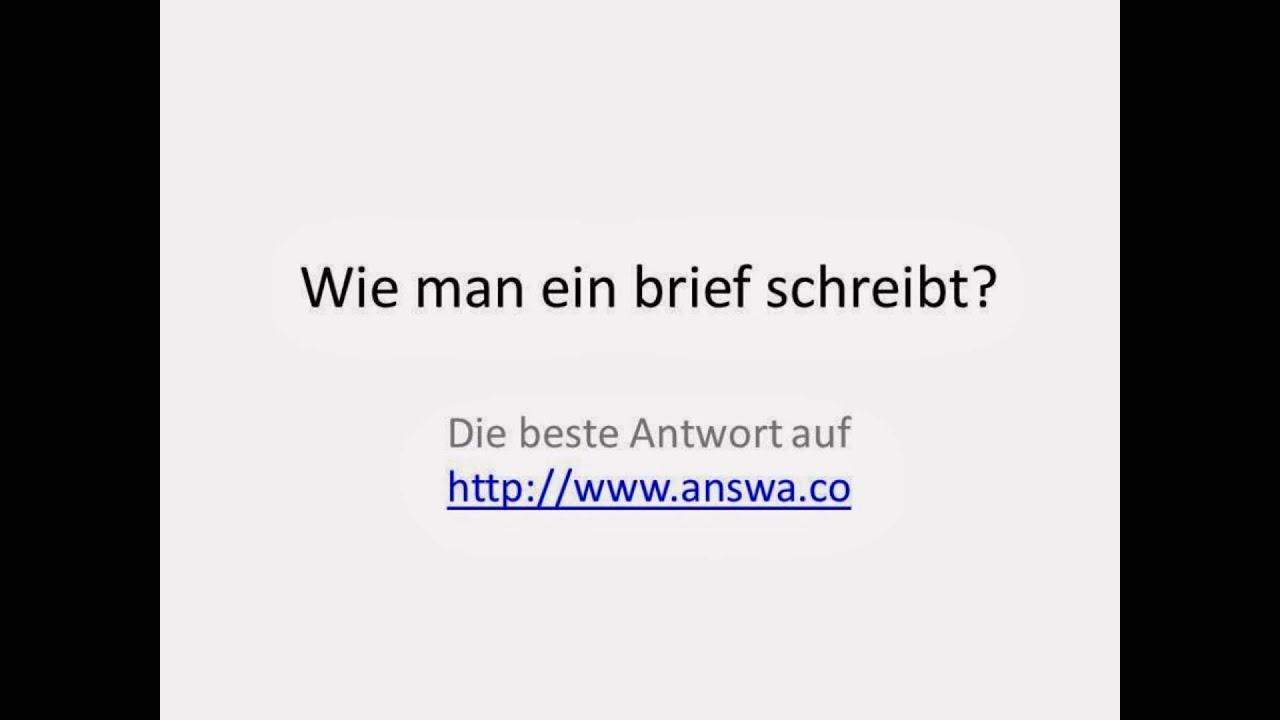 Wie man ein brief schreibt? - YouTube