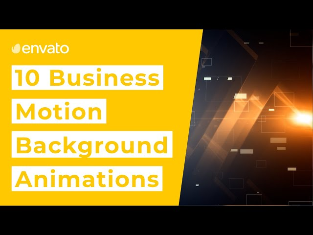 10 Best Corporate Motion Backgrounds [2020]