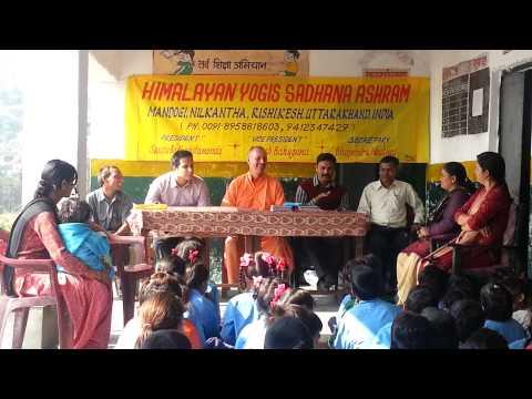 Pt.-2: Himalayan Yogis Sadhana Ashram giving wool sweaters to poor school children.