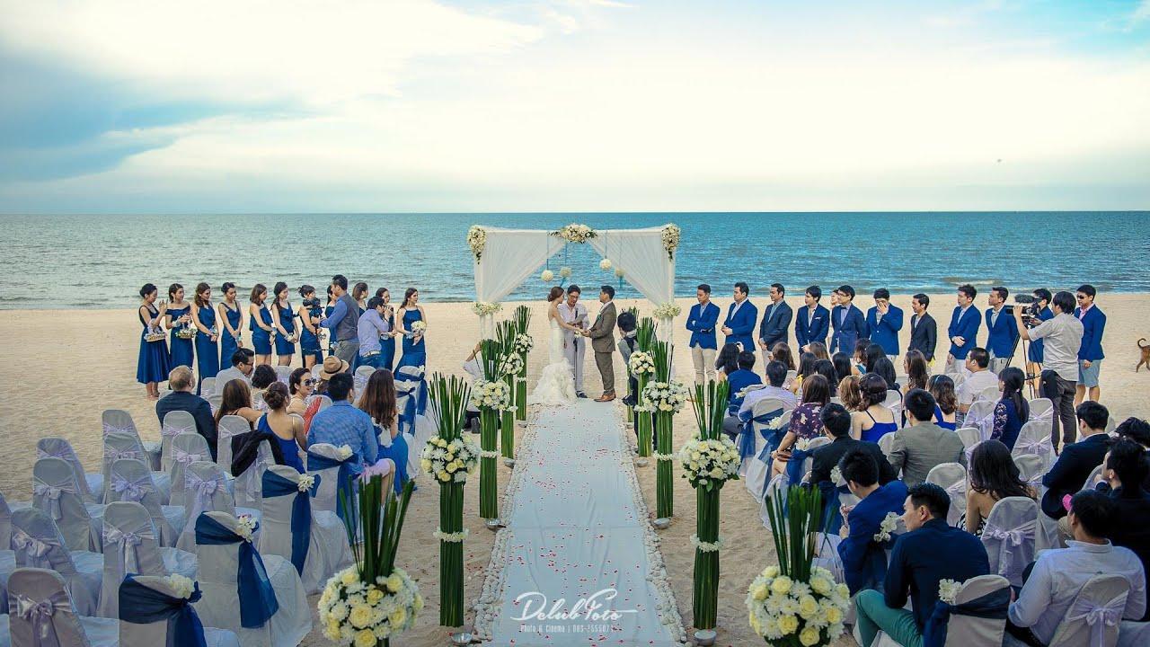งานแต่งริมทะเล วีรันดา ชะอำ คุณดรีม \u0026 โจ้ Wedding Hua Hin Veranda  [DCLUBFOTO]