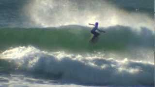 Dextar Muskens Contest surfing at 12years old