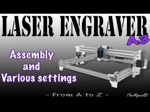 ⚛️☢️ Videotutorial - Laser Engraver 2.5W A3 (400x300mm) [UHD 4K] ☢️⚛️