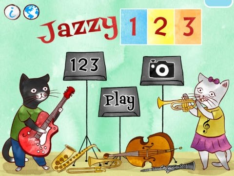 Jazzy 123   Learn to Count with Music  iPad app demo for kids  Ellie