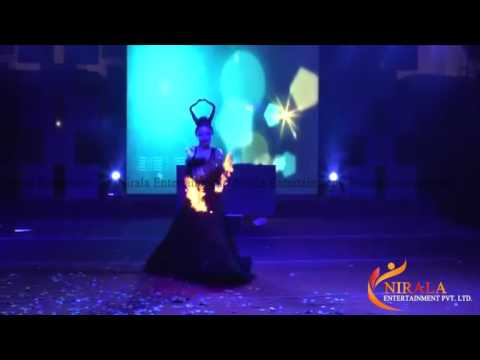 International Fire dance act stage show performer In Delhi Mumbai & Goa
