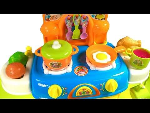 Thumbnail: Best Learning Names of Vegetables Colors for Children with Toy Oven Cooking Velcro Cutting Food