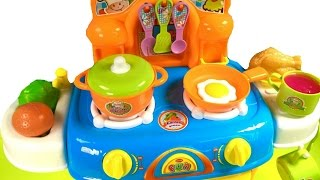 Best Learning Names of Vegetables Colors for Children with Toy Oven Cooking Velcro Cutting Food