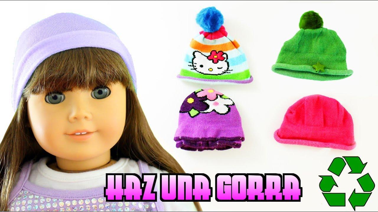 Cómo hacer una gorra para tu muñeca American Girl - Manualidades para  muñecas - manualidadesconninos 57831c22891