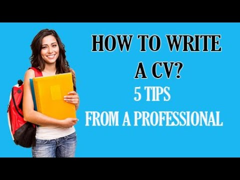 How To Write a CV / For Freshers and Experienced People (Get Noticed by Employers)