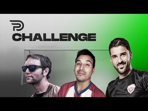Lanzamientos Imposibles Y Rabonas Con David Villa... Challenge Con Elopi Y Rodrigo Faez!!