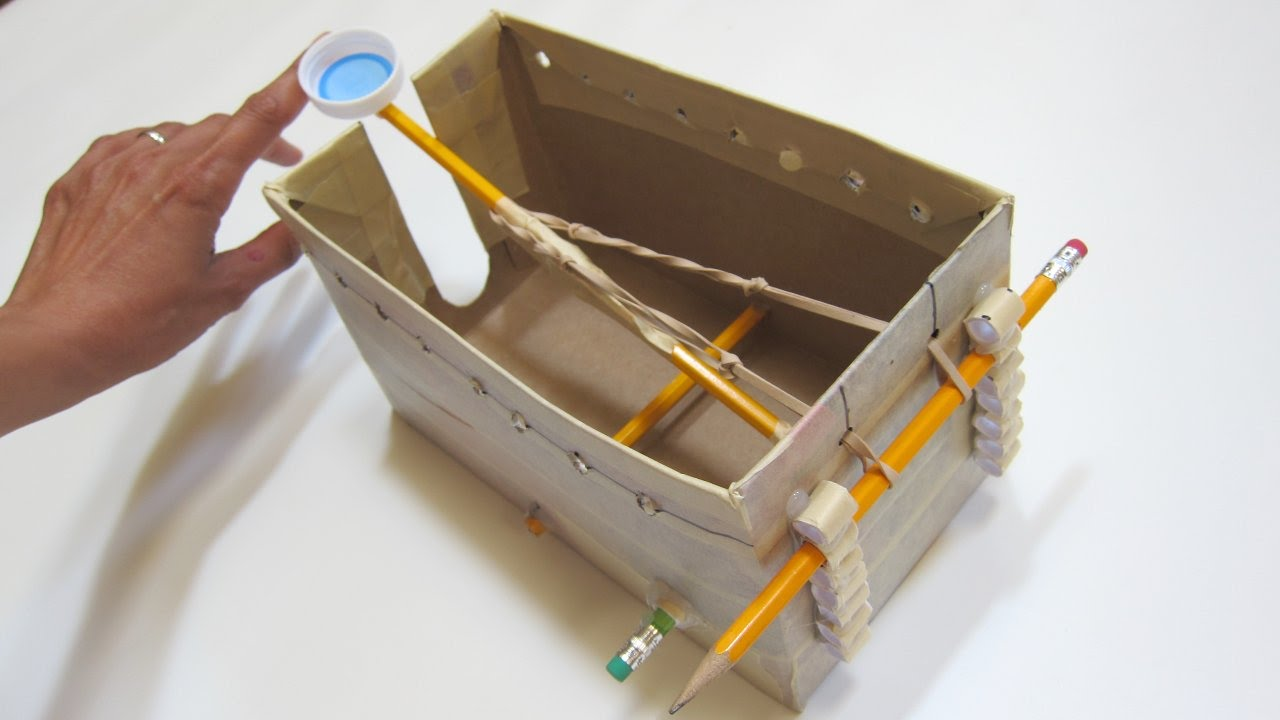 Box catapult part b youtube for What can i make with boxes