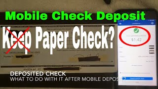 ✅ What To Do With Check After Mobile Deposit? 🔴