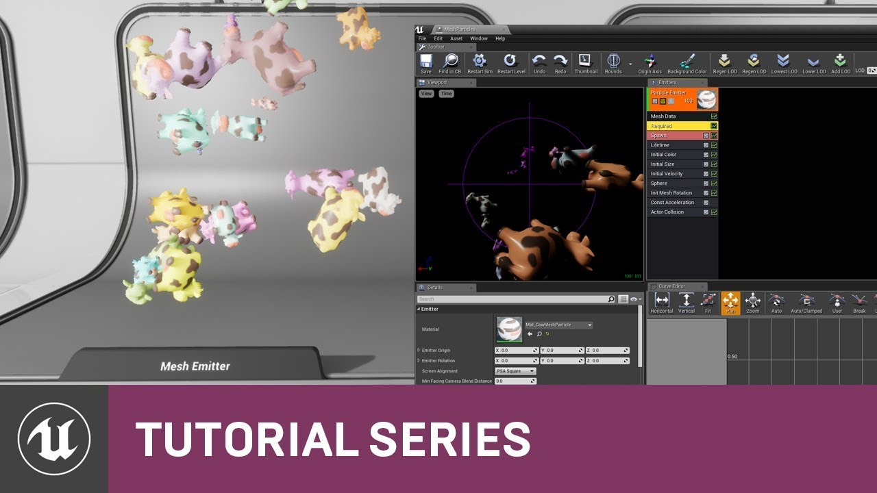 Intro to Cascade: Creating a Mesh Emitter | 06 | v4 2 Tutorial Series |  Unreal Engine