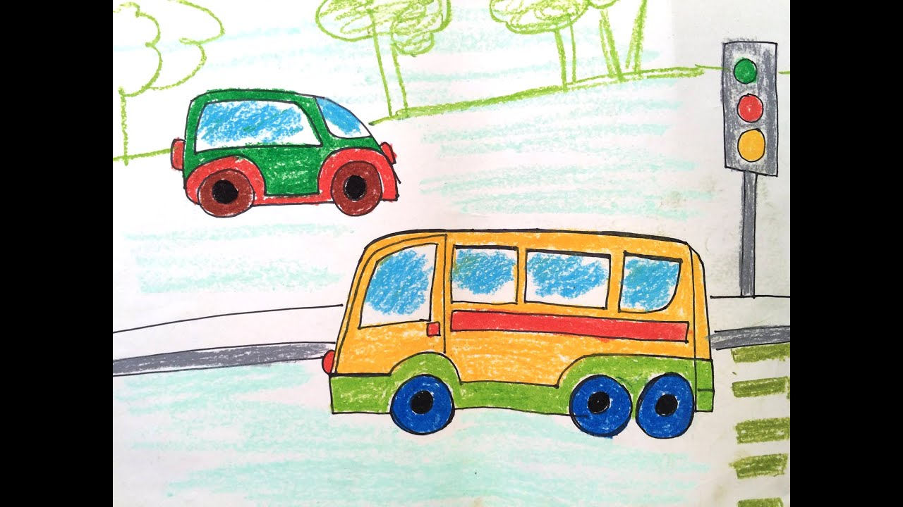 How To Draw Transport For Kids