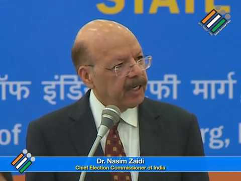Dr Nasim Zaidi Chief Election Commissioner Of India Youtube