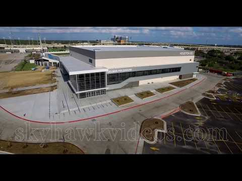 Delmar Fieldhouse Houston - Stadium Construction Phase - flyovers
