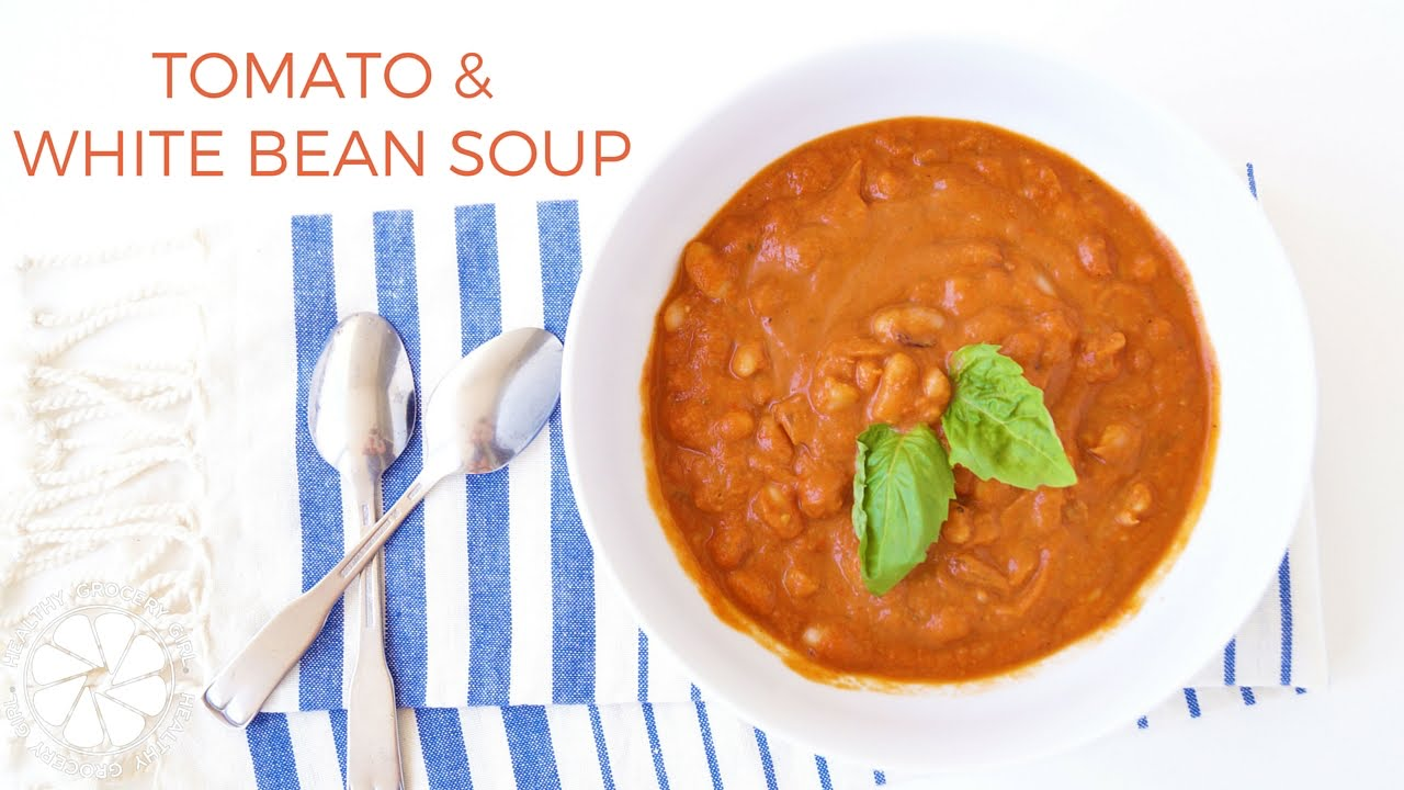 Tomato & White Bean Soup | Healthy & Easy Lunch Ideas | Healthy ...
