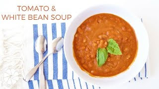 Tomato & White Bean Soup | Healthy & Easy Lunch Ideas | Healthy Grocery Girl Cooking Show