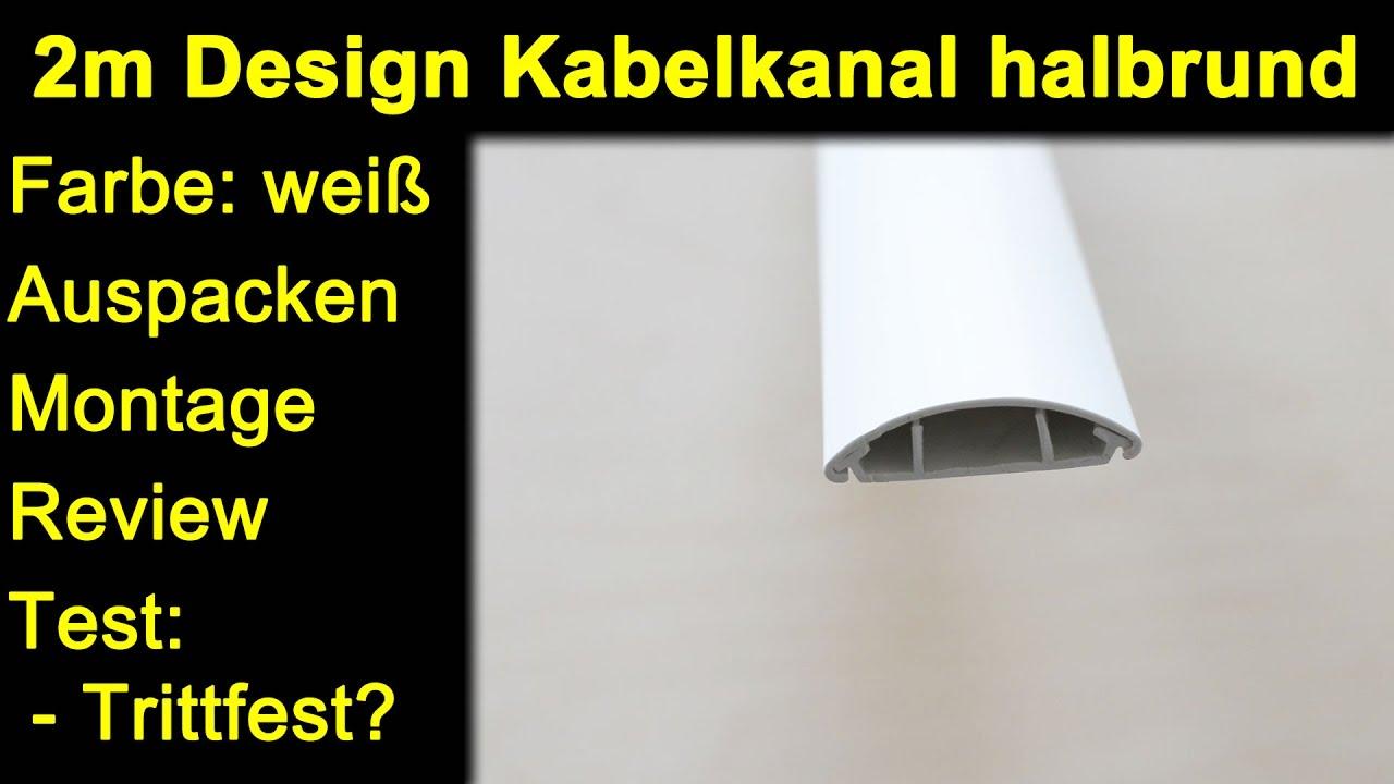 MK-Elektronik 2m Design Kabelkanal halbrund weiß - Auspacken Montage ...