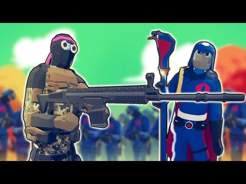 TABS - Cobra Commander Summoner Vs SNAKE EYES Ninja In Totally Accurate Battle Simulator GI Joe Mod!