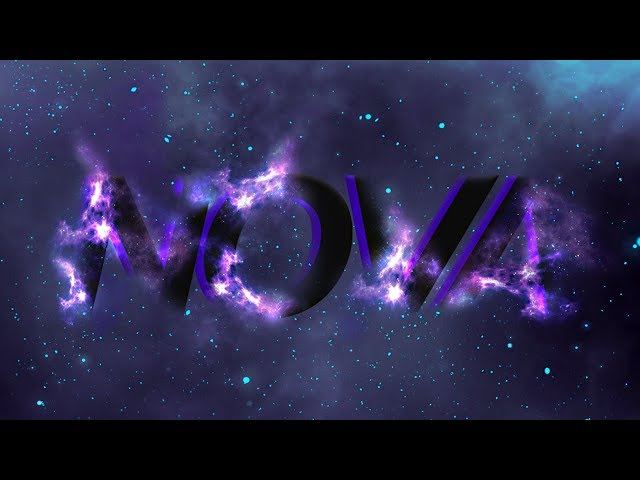 Glowing Space Text Effect - Photoshop Tutorial