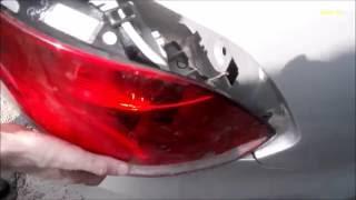 Фольксваген поло седан, замена лампочек в задних фонарях. Volkswagen Polo Sedan