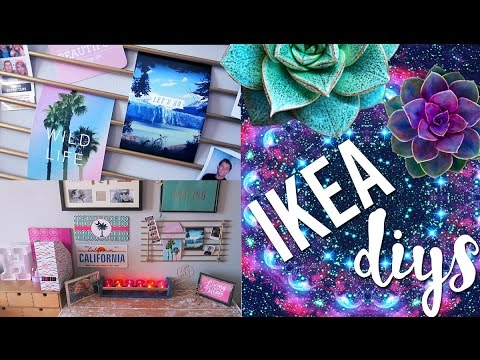 diy room decor using ikea homeware pinterest and tumblr inspired youtube. Black Bedroom Furniture Sets. Home Design Ideas