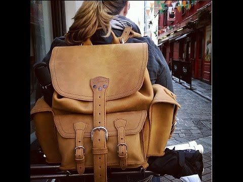 Saddleback Front Pocket Leather Backpack Medium Tobacco featuring: WP Tote &  SBL Large Hobo