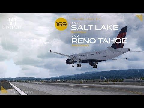 P3DV4 |FsLabs A320 | Salt Lake City → Reno Tahoe