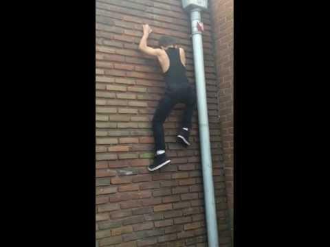 Kid Gets Caught Climbing School Wall By Teacher
