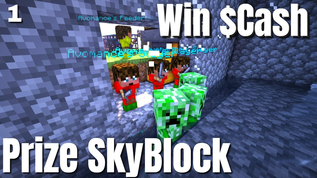 How to Start a Minecraft Skyblock Island from Scratch | Cash Prizes | Best Skyblock Server (2021)