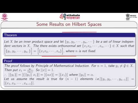 Some results on hilbert spaces.(MATH)