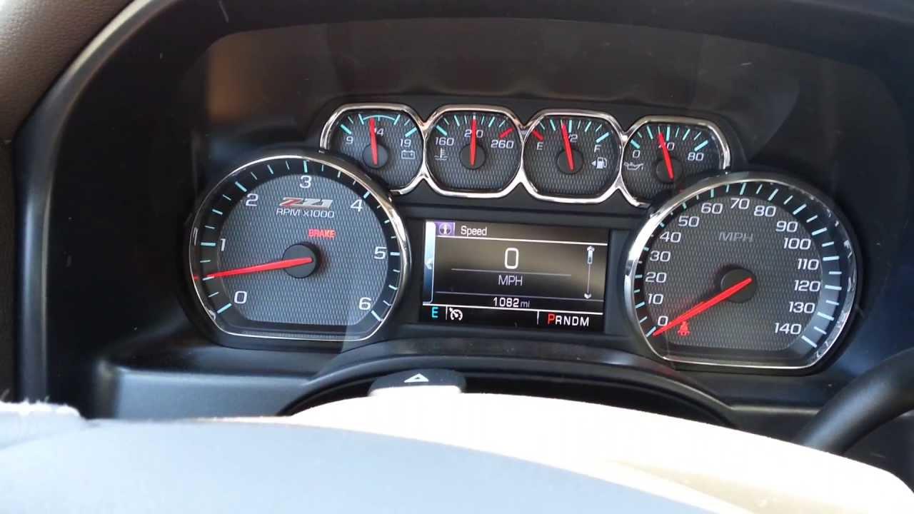 2014 Chevrolet Silverado Z71 dashboard - YouTube