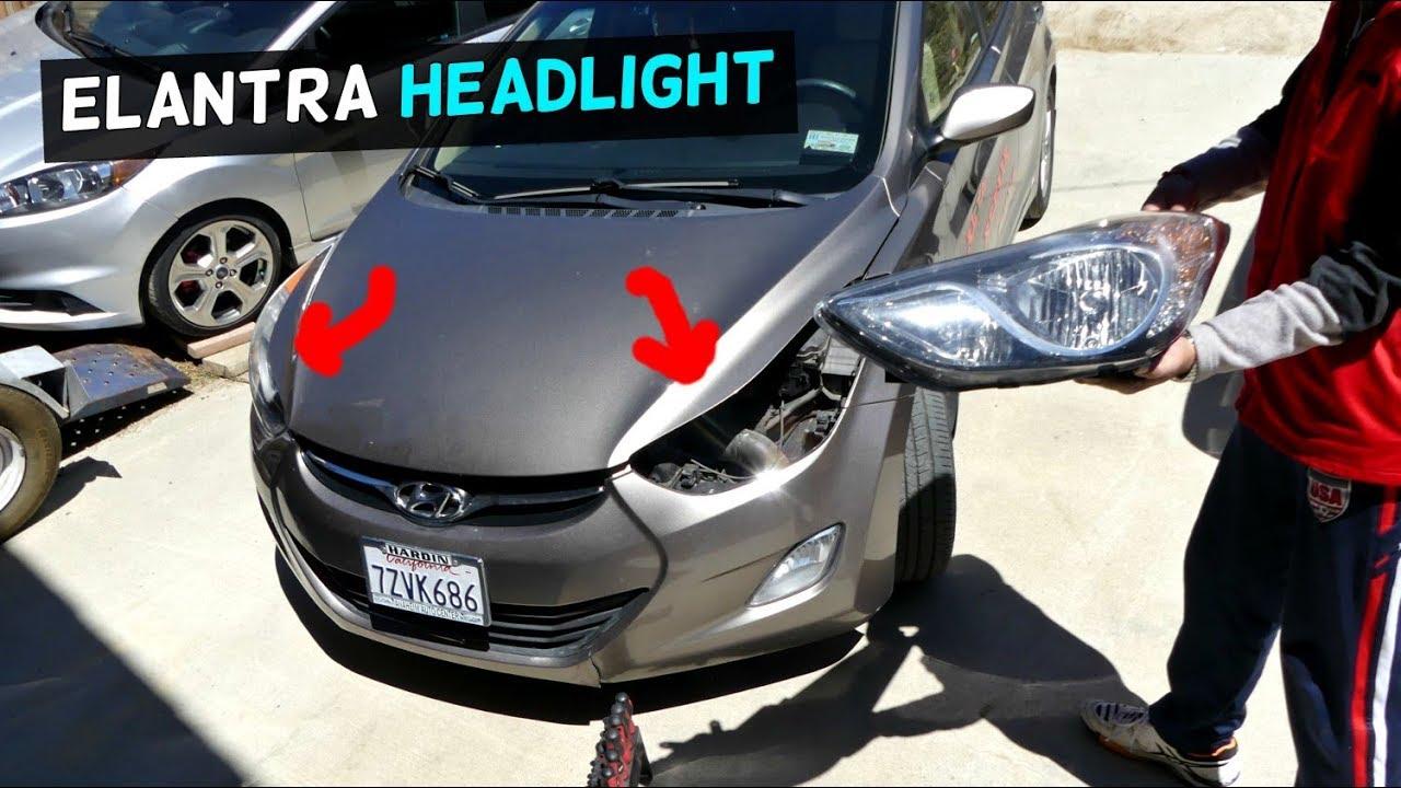 Hyundai Elantra Headlight Replacement 2011 2012 2013 2014