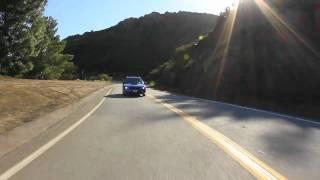 BMW 135i & Subaru WRX Mulholland Highway Snake Hill Climb
