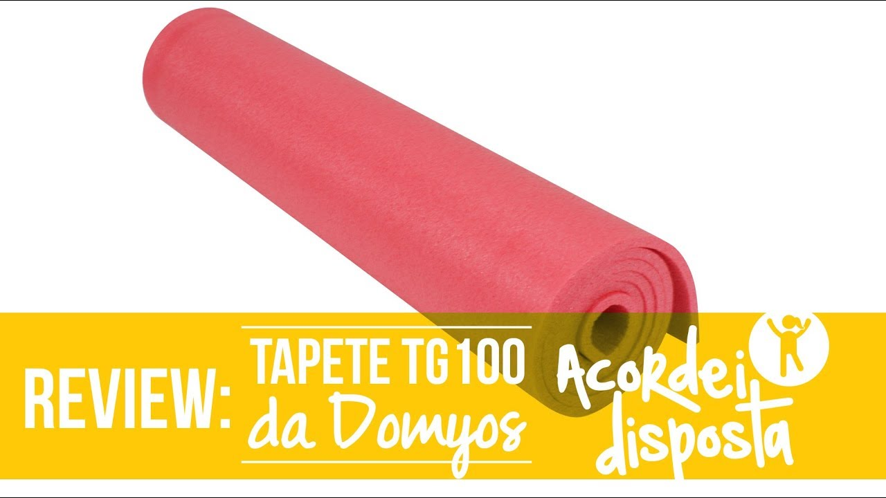 dc1b6b5aa REVIEW  Tapete Fitness TG100 Domyos - YouTube