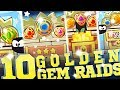 10 Golden Gem Raids! || King of Thieves || Challenging, Expert, Successful Attacks