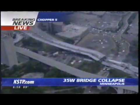 35W highway collapse in Minneapolis Minnesota - August 1 2007