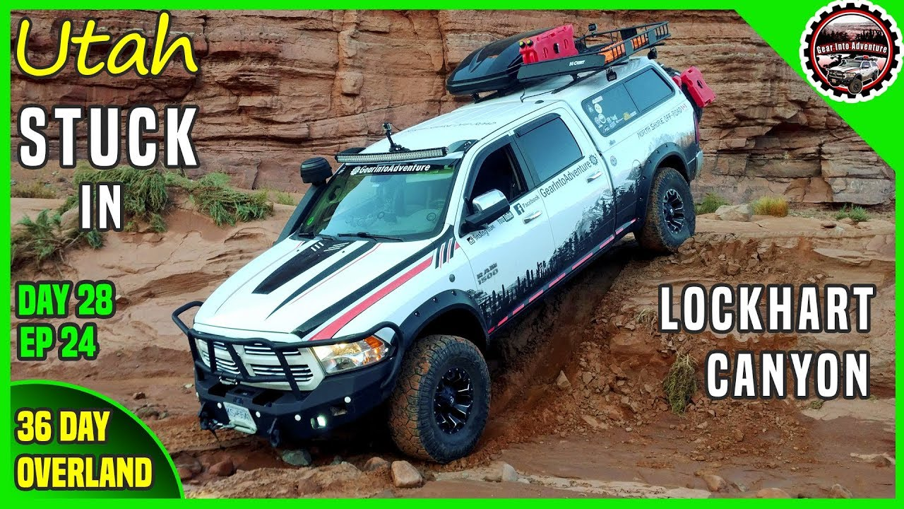 CanyonLands National Park Overlook and Lockhart Canyon Bog Down - Off Road  Overland 36 days   EP23