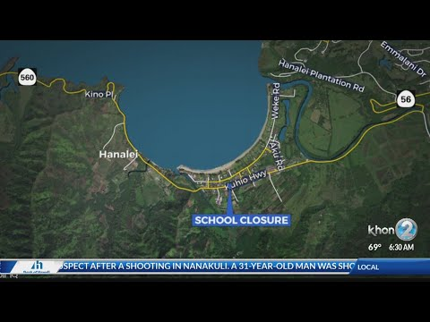 Hanalei Elementary School closed due to flooding
