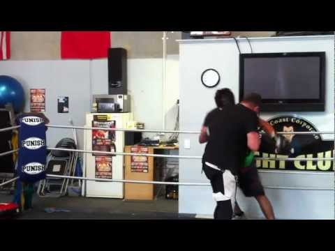 Jamie Myer Sparring James Nash @ Gold Coast Corp Fight Club