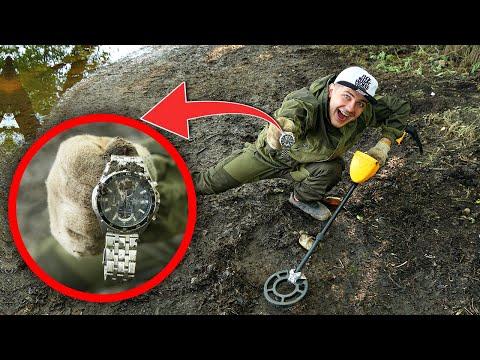 Эти дорогие находки мы нашли под землей с помощью металлоискателя!