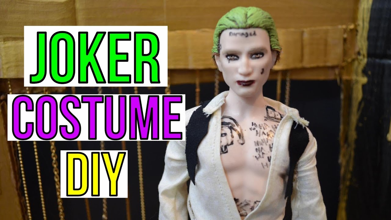 How To Make A Barbie Sized Joker Costume From Suicide Squad Diy Diy Joker Jokerdoll