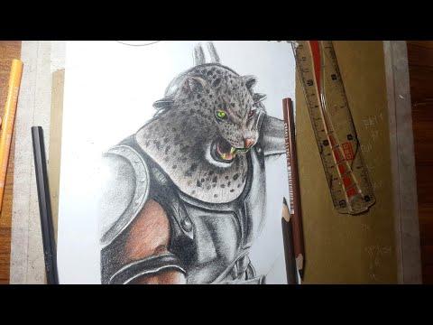 How To Draw Armor King Tekken 7 Tutorial Youtube