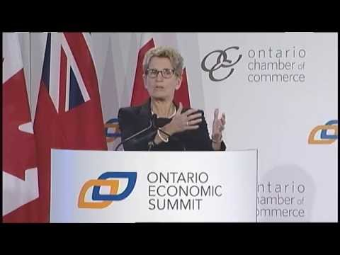 Replay: Conversation with Kathleen Wynne, Premier of Ontario, at the Ontario Economic Summit